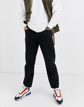 Topman loose fit jeans in black