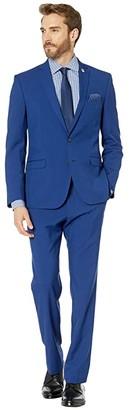 Nick Graham Hot Blue Solid Suit (Hot Blue) Men's Suits Sets