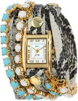 La Mer Women's LMMULTI5003 Chandelier Crystal Chain Collection Colette Watch