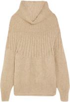 Mes Demoiselles Lampion Metallic Mohair-blend Sweater - Beige