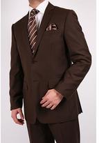 Ferrecci Ferrecci's Men's Brown Slim-Fit Suit with Tie