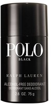 Ralph Lauren Polo Black by for Men, Alcohol-Free Deodorant, 2.6 Ounce