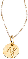 Diana Warner Gold Script Initial Charm Necklace