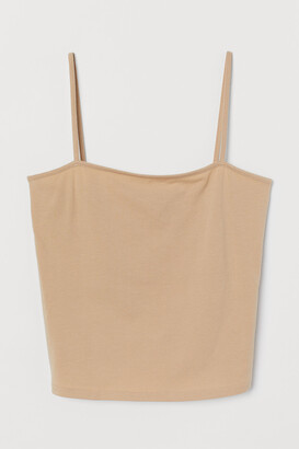 H&M Cropped Jersey Camisole Top