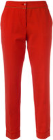 Etro slim-fit cropped trousers - women - Cotton/Polyamide/Spandex/Elastane - 38