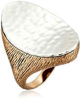 Barse Bronze and Sterling Silver Statement Ring