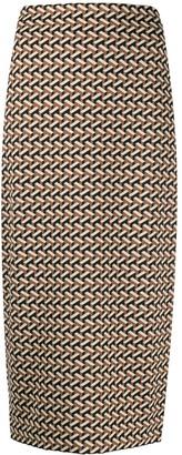 Dvf Diane Von Furstenberg Geometric Print Pencil Skirt