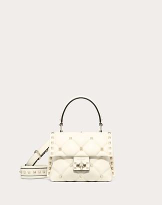 Valentino Mini Candystud Nappa Handbag Women Light Ivory Lambskin 100% OneSize