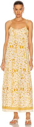 Natalie Martin Melanie Dress in Wildflower Saffron   FWRD
