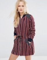 Hazel Zip Front Printed Dress