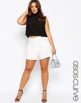 Asos White Patch Pocket Short