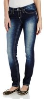 YMI Jeanswear Juniors Rhinestone and Embroidered Skinny Jean