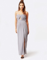 Little Mistress Cut-Out Bandeau Maxi Dress