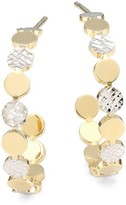 Jennifer Zeuner Jewelry Bea Two-Tone Small Hoop Earrings