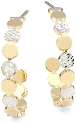Jennifer Zeuner Jewelry Bea Two-Tone Small Hoop Earrings