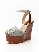 7 For All Mankind Yves Wedge Sandal