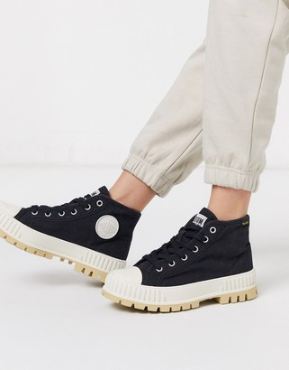 Palladium Pallashock chunky flat ankle boots in black