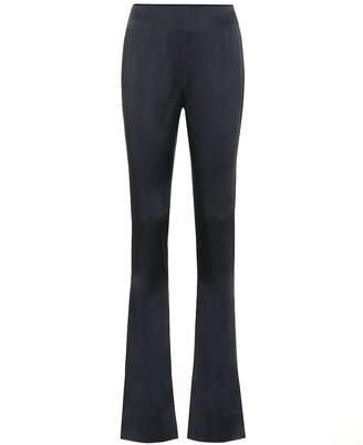 Galvan High-rise satin-crepe pants