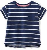 Old Navy Striped Slub-Knit Boyfriend Tee for Toddler Girls
