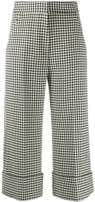 Smythe Houndstooth cropped trousers
