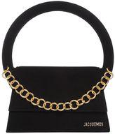 Jacquemus Suede Shoulder Bag W/ Chain Detail