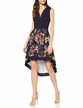 Yumi Women's Floral Wrap Front High Low Dress Casual
