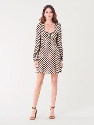 Diane von Furstenberg Faith Satin-Blend Mini Dress