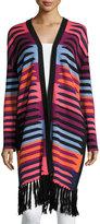 Mara Hoffman Long Striped Cardigan W/ Fringe, Connector