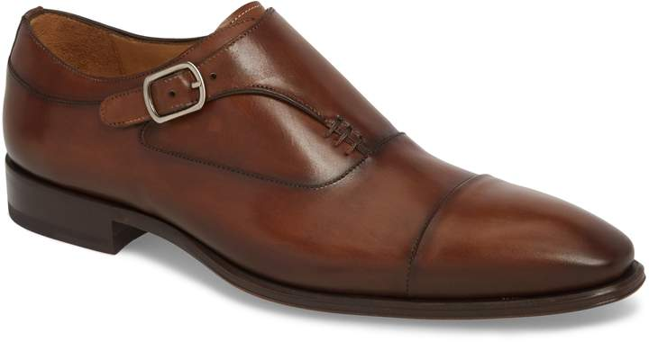 Mezlan Cartago Monk Strap Cap Toe Oxford