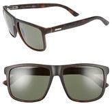 Gucci Men's 57Mm Sunglasses - Havana/ Gray Green