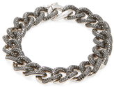 Artisan Silver & 11.43 Total Ct. Black Diamond Link Bracelet