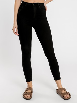 Nobody Siren Skinny Ankle Jeans in Power Black