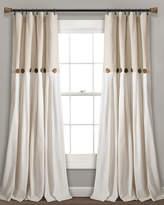 Triangle Home Fashion Linen Button Window Curtain Panels