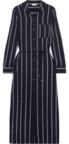 Splendid Rope Striped Voile Midi Dress