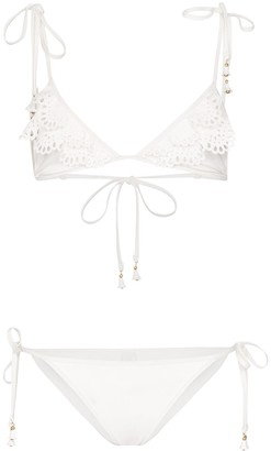 Zimmermann Kirra laser-cut bikini set