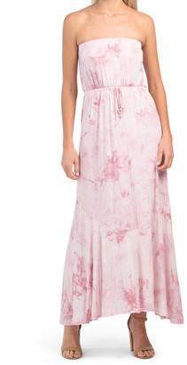 Juniors Tie Dye Tube Maxi Dress