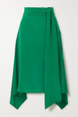 Joseph Alice Asymmetric Silk Crepe De Chine Midi Skirt