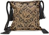 Antik Batik Embellished Shoulder Bag with Leather