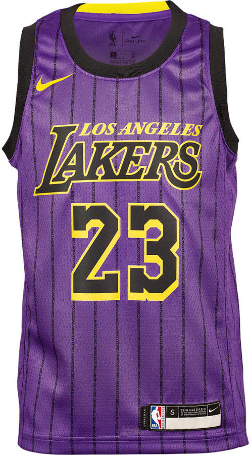 uk availability 6078b 2cade Team Kids' Los Angeles Lakers NBA Lebron James City Edition Swingman  Connected Jersey