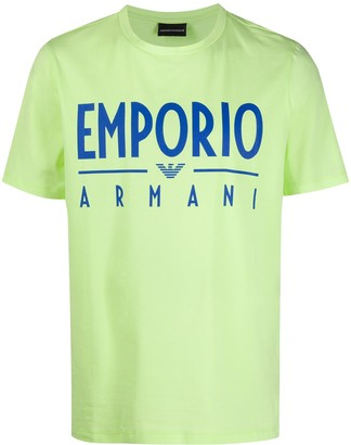 Emporio Armani logo print relaxed-fit T-shirt