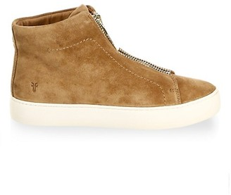 Frye Lena Zip Suede High-Top Sneakers