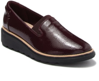 Clarks Sharon Dolly Leather Wedge Loafer