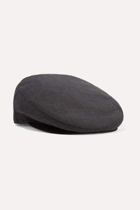 Isabel Marant Gabor Checked Wool Cap - Gray