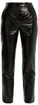 Lanvin High-rise slim-leg faux-leather trousers
