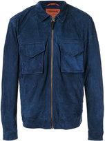 Missoni zip-up jacket - men - Lamb Skin/Cotton/Wool/Nylon - L