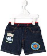 Kenzo badges shorts - kids - Cotton/Polyester/Spandex/Elastane - 9 mth