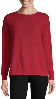 Liz Claiborne Weekend Womens Crew Neck Long Sleeve Sweatshirt