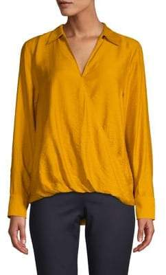 Vince Camuto Long-Sleeve Flowy Rumple Top