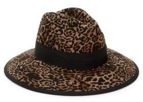 Helene Berman Animal-Print Wool Hat