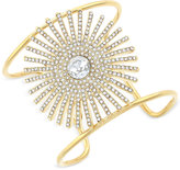 Vince Camuto Gold-Tone Crystal Sunburst Cuff Bracelet